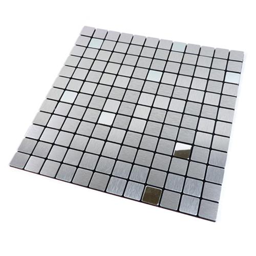 점착식 메탈 타일 AA0271 실버알루미늄