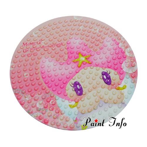 미끄럼방지 몽이원형(핑크)