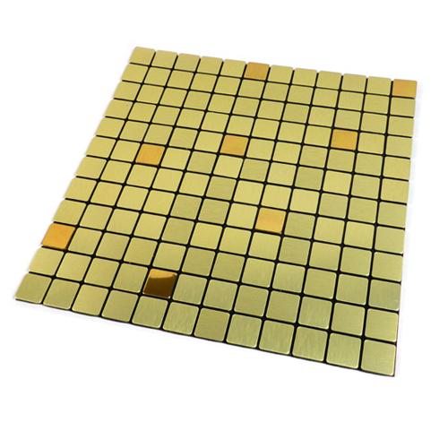 점착식 메탈 타일 AA1266 골드알루미늄