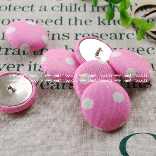 싸개단추-도트무늬 핑크