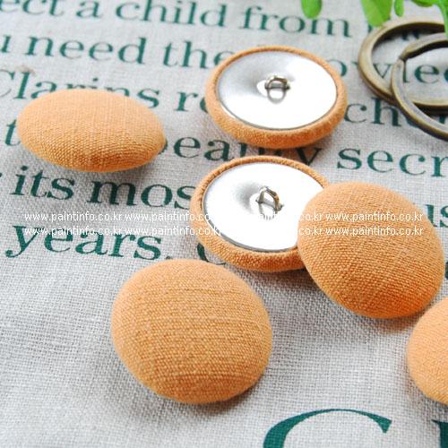 싸개단추-천연염색 오렌지
