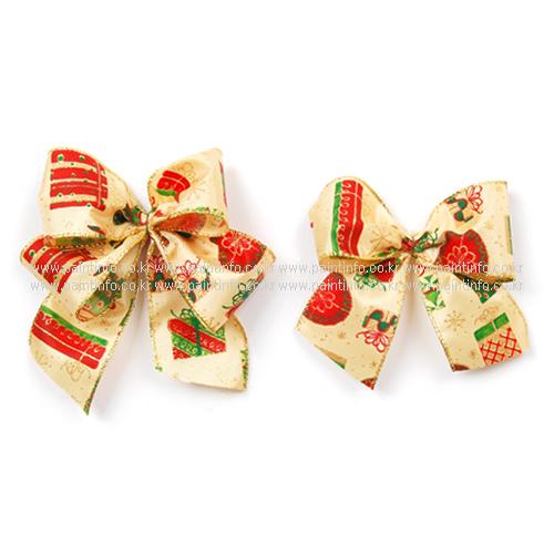 크리스마스리본 선물상자