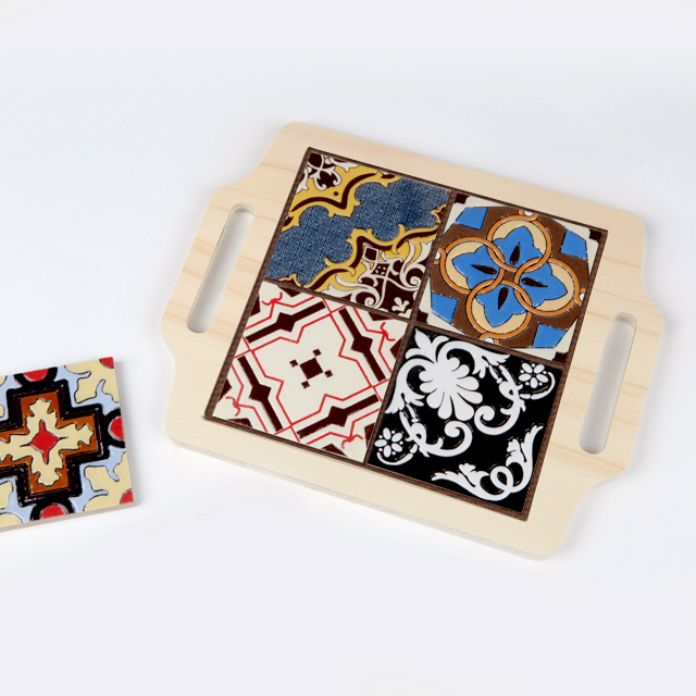 FS-DIY 사각타일 냄비받침대(포플러)