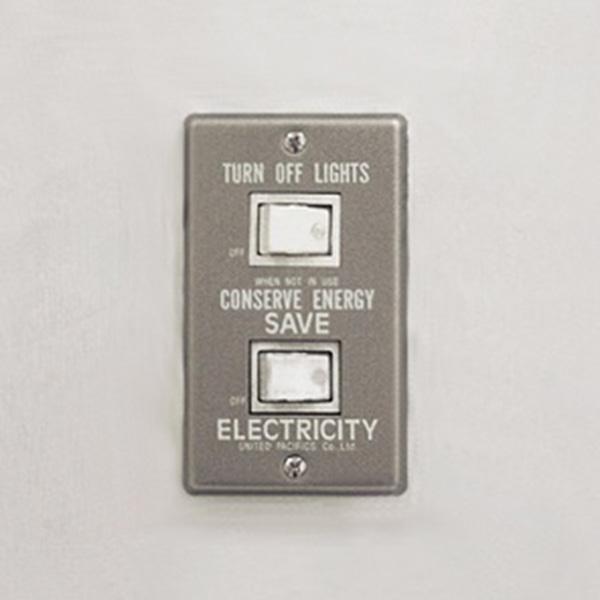 P.F.S. Switch plate Alumi_2구 White
