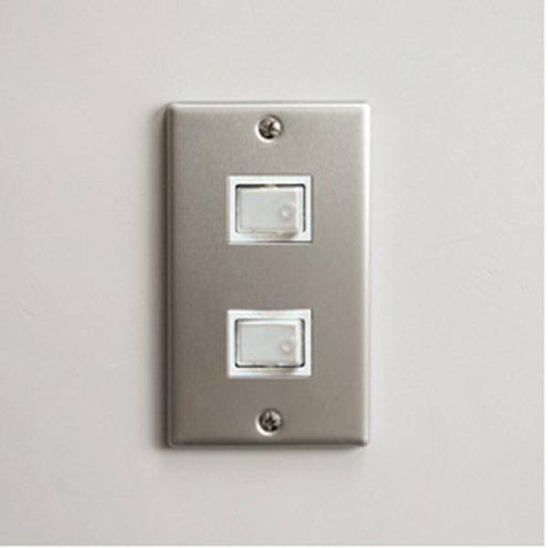 P.F.S. Switch plate Alumi_2구 Plain