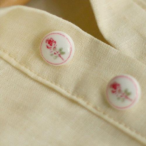 NE/Rose Flower Button 13mm(2개셋트)