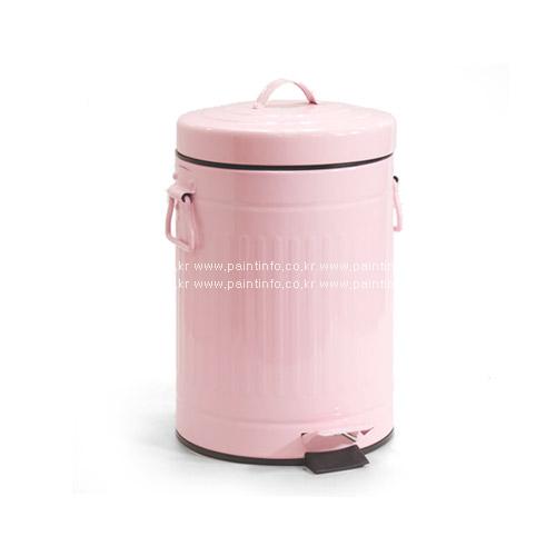 DL-원형페달 휴지통 12L(핑크)