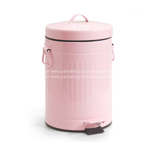 DL-원형페달 휴지통 20L(핑크)