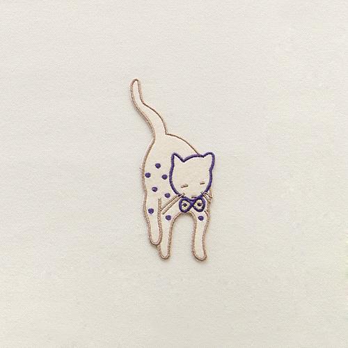 NE/개당판매/BIG] 사뿐사뿐! 독특한 고양이 와펜
