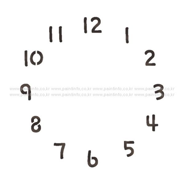 스텐실본 시계숫자Ver.2