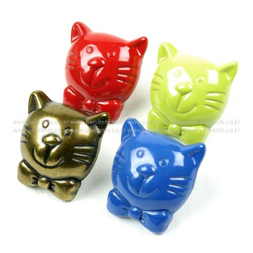 CO.캐릭터 손잡이 고양이