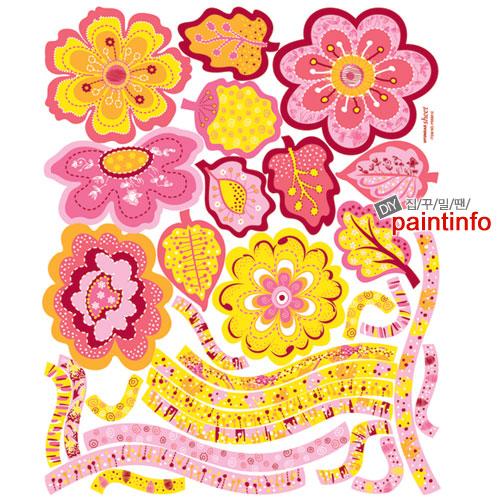 포인트스티커 PS58012(핑크꽃나무)