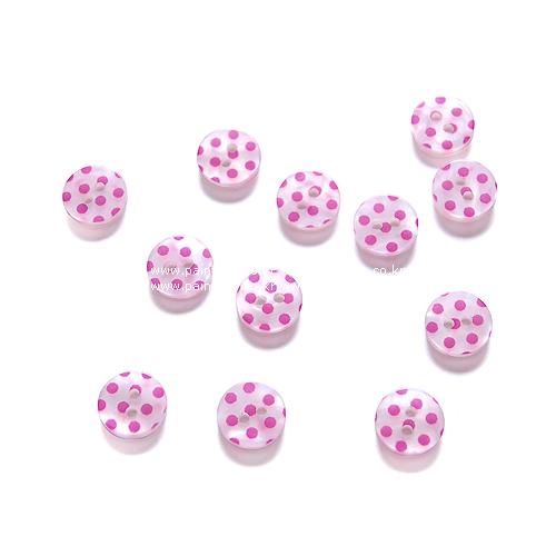땡땡이단추11-핑크