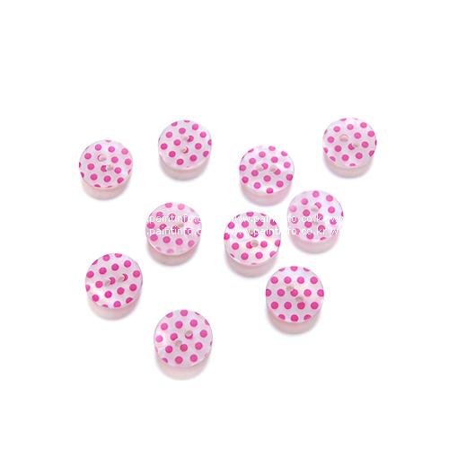 땡땡이단추15-핑크