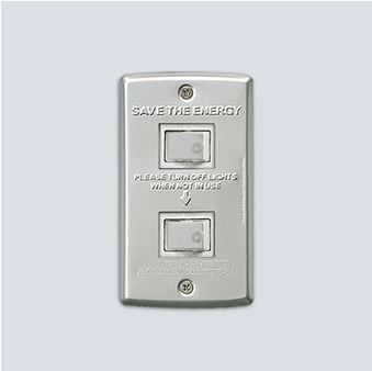 AWS Switch plate_2구 Alumi