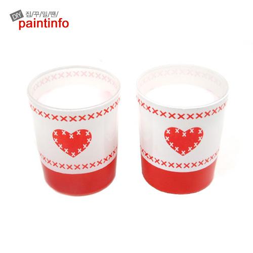 O-7 화이트 컵 향초 2P