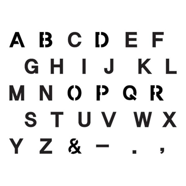 스텐실본 알파벳 대문자(L)
