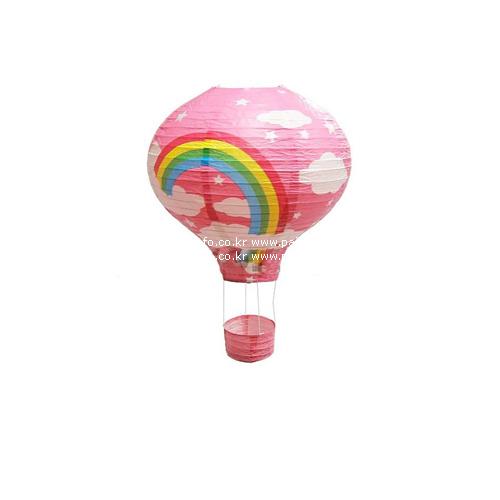 구름 열기구 풍선 모빌(핑크)