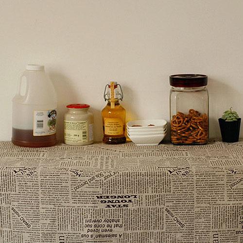 NE/brown news paper soft linen