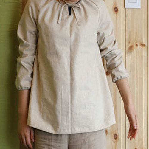NE/Country Shirring Blouse-도안