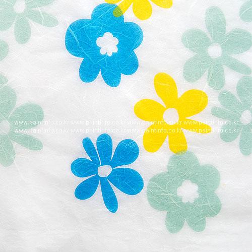 패턴한지-난꽃지9 블루민트옐로