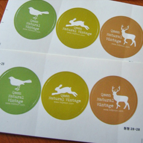 T.L Natural Vintage sticker seal(2pcs)