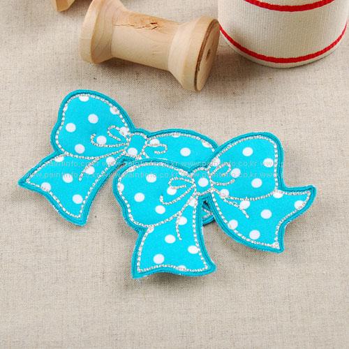 WD/cutie ribbon 와펜(민트)