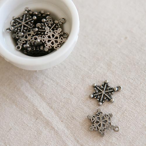 NE/S/ 2개세트] 눈의 꽃.. 데코참 (silver)