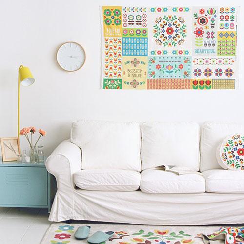 NE/1컷] Nordic Flower_ A garden full of flowers 18 illust cut Linen