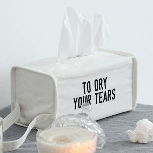 NE/스퀘어 티슈케이스 _ TO DRY YOUR TEARS