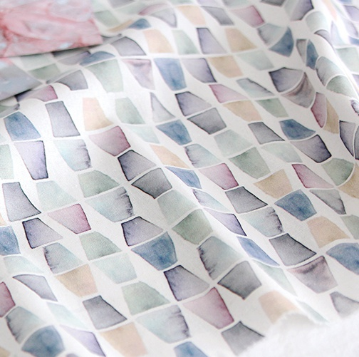 NE/1마/ Full HR/ 젬스톤] Light Gemstone Pattern Linen