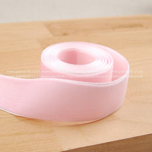 벨벳리본끈(핑크)