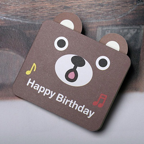 도넛곰 생일카드