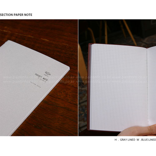 IN.REFILL POCKET NOTE - M Brown Cover. Section Paper note