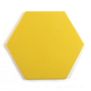 [무료배송]단색 옐로우 육각타일(200x230mm)(20장/약0.7헤베)