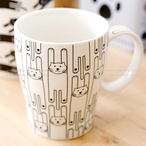 FT/고양이깡통머그(흰고양이)