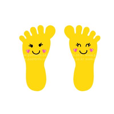 UN/미끄럼방지 작은발바닥-옐로우(6매)