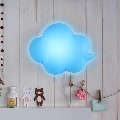LED구름모양벽등(블루)