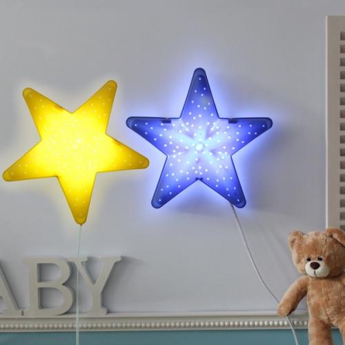 밝기조절 LED별모양벽등(블루/옐로우)