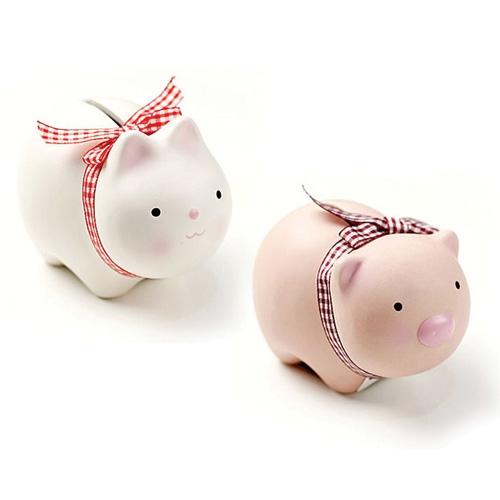 귀여운 돼지와 토끼 저금통