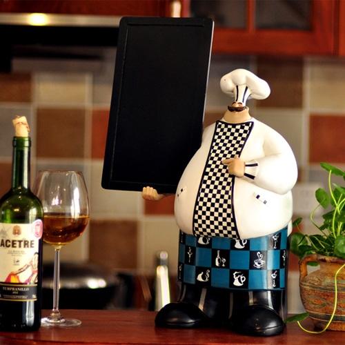 유럽풍 요리사 칠판 메뉴판