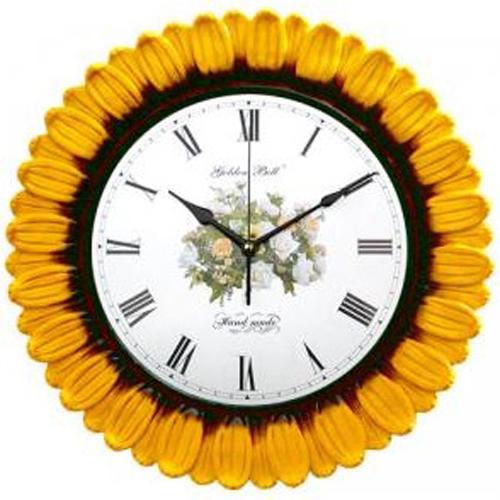 해바라기 꽃잎 꽃벽시계(무소음)GB2026