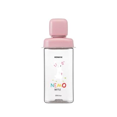 코멕스 네모물병 430ml[핑크 토끼]