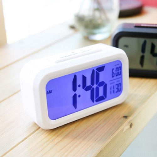 스마트 디지털 알람시계 - 화이트