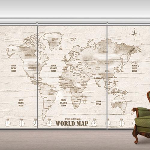 GL9630 - World Map Wall
