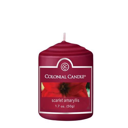 [콜로니얼 캔들2855] 보티브 캔들 1.7oz 다홍색 아밀리리 꽃