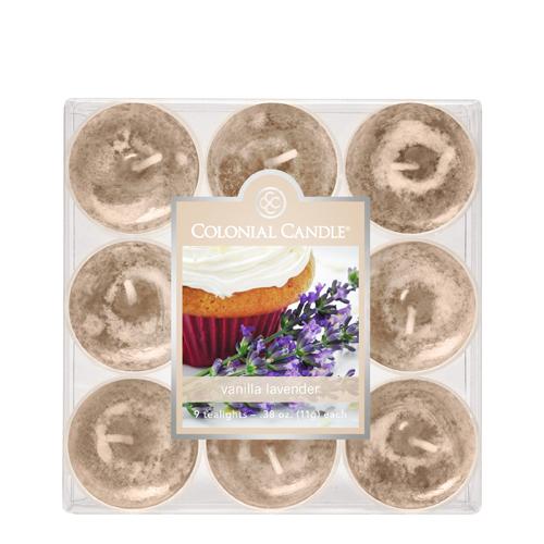 [콜로니얼 캔들1898] 티라이트(9pk)캔들 바닐라 라벤더