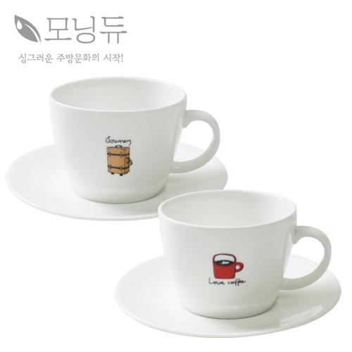 일상 커피잔 커플 4P