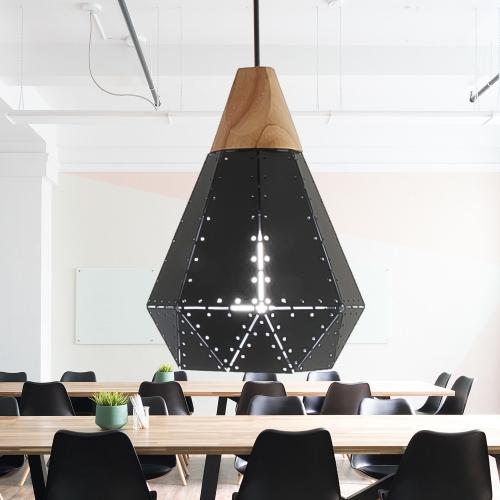LED 천공(블랙) 1등 펜던트 식탁등 인테리어조명