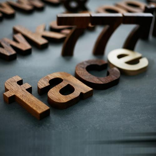 멀바우 원목 이니셜 글자 컷팅 알파벳 우드 로고